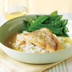 Pan-Roasted Fish with Thai Curry SauceRecipe