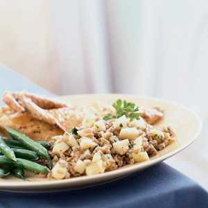 Italian Farro with Sausage and Apples Recipe
