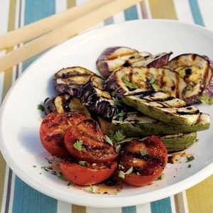 Grilled Eggplant, Tomatoes, and ZucchiniRecipe
