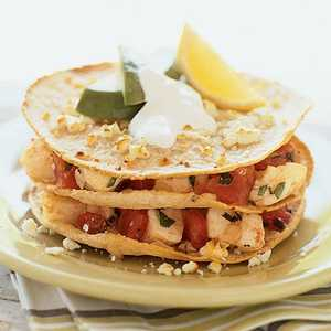 Fish Stacks with Mexican CremaRecipe