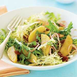 Roasted Apple, Bacon, and Frisée SaladRecipe