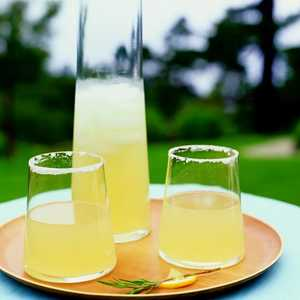 Ginger-Rosemary Lemon-Drop CocktailsRecipe