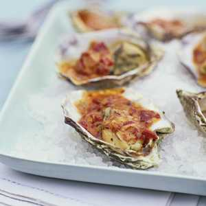 Grilled Oysters with Chipotle GlazeRecipe