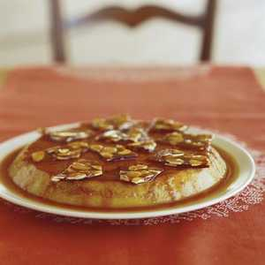 Date Flan with Almond Brittle Recipe