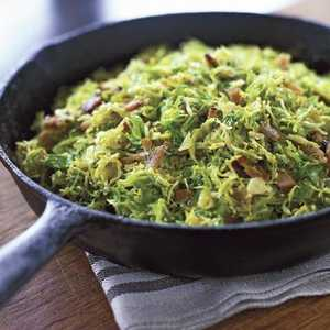 Shaved Brussels Sprouts with PancettaRecipe