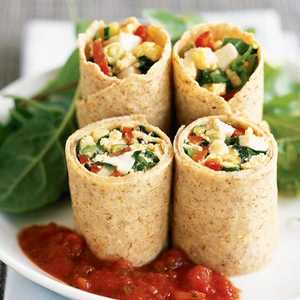 Egg and Vegetable Wrap Recipe