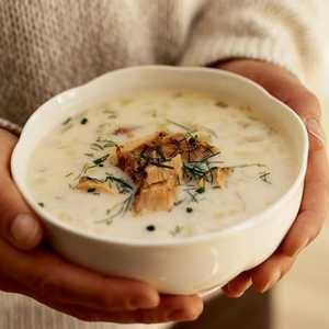 Leek and Fennel Chowder with Smoked SalmonRecipe