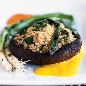 Grilled Portabellas with CouscousRecipe