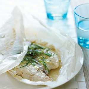 Green Onion and Sesame Parchment-baked FishRecipe