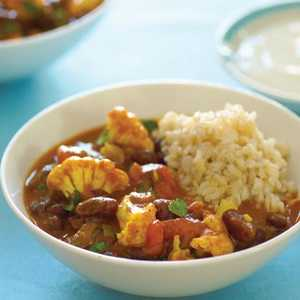Curried Red Kidney Beans and Cauliflower (Rajma Masala)Recipe