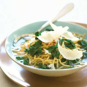 Whole-grain Pasta Soup with Greens and Parmesan Recipe