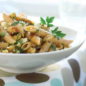 Whole-grain Penne with Walnuts, Caramelized Onions, and Ricotta SalataRecipe