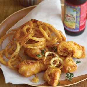 Beer-battered Cod and Onion RingsRecipe