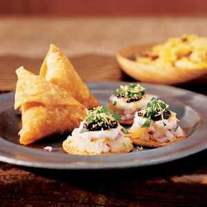 Potato-Chutney Crisps (Sev-puri) Recipe