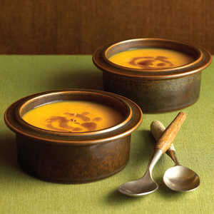 Spiced Pumpkin Soup with Ginger Browned Butter Recipe