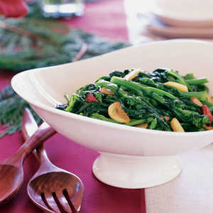 Sautéed Broccoli Rabe with Garlic and Chiles (Rape Fritte)Recipe