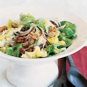 Butter Lettuce Salad with Walnuts and GrapesRecipe