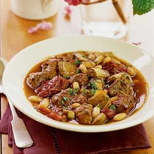 Lamb Stew with White Beans and ArtichokesRecipe