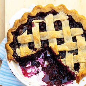 Spiced Blueberry PieRecipe