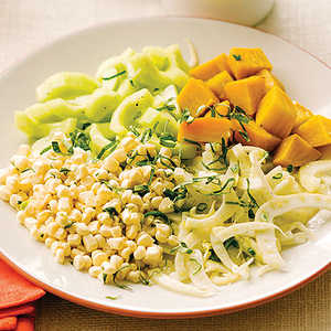 Market Salad with Corn, Beets, Fennel, and Cucumber Recipe