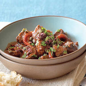 Spanish-style Lamb Stew with Roasted Red PeppersRecipe