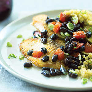 Tilapia with Quinoa & Black BeansRecipe