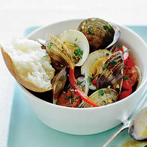 Steamed Clams and ChorizoRecipe