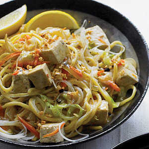 Stir-fried Thick and Thin Noodles with Vegetables and Tofu (Pancit)Recipe