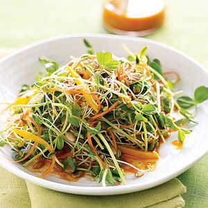 Spicy Sunflower Salad with Carrot DressingRecipe