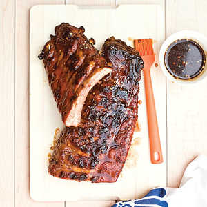 Grilled Baby Back Ribs with Sticky Brown Sugar Glaze Recipe