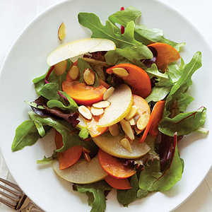 Asian Pear, Persimmon, and Almond SaladRecipe