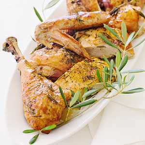 Roast Turkey with Wine and HerbsRecipe