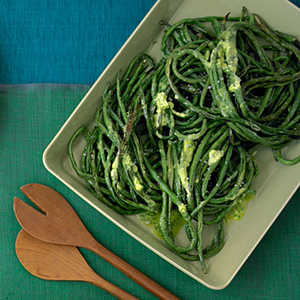 Roasted Long Beans with Herb ButterRecipe