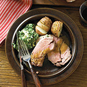 Lamb Shoulder Roast with Roasted Garlic SauceRecipe