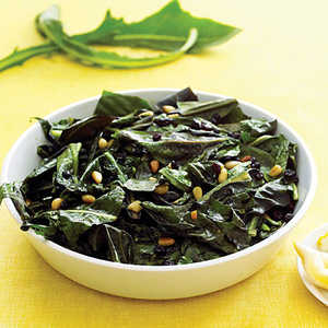 Dandelion Greens with Currants and Pine NutsRecipe