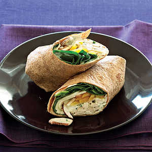 Green Goddess Chicken Wraps Recipe