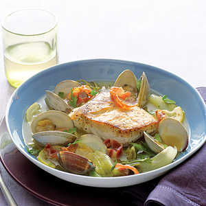 Halibut, Clams, and Pancetta with EscaroleRecipe