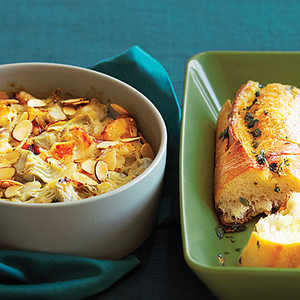 Warm Crab and Artichoke Dip with French BreadRecipe