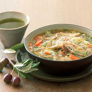 Turkey White-Bean Soup with Olio Nuovo Recipe