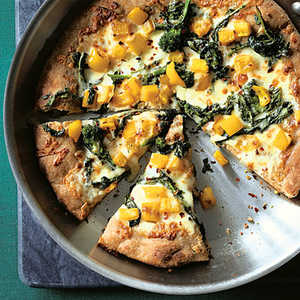 Broccoli Rabe Skillet Pizza Recipe