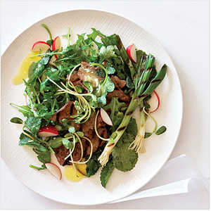 Grilled Beef and Spring Onion SaladRecipe