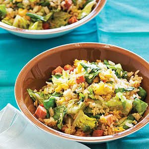 Lettuce Fried Rice with Easter Ham and EggsRecipe