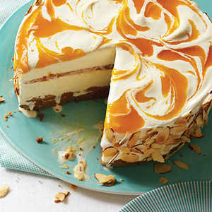 Apricot Almond Swirl Ice Cream PieRecipe