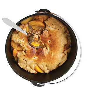 Dutch-Oven Peach CobblerRecipe