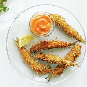 Anchovy Fries with Smoked Paprika AioliRecipe