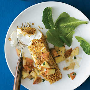 Hazelnut-Crusted Halibut with Apple SalsaRecipe