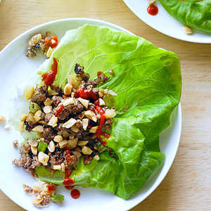 Bison and Water Chestnut Lettuce CupsRecipe