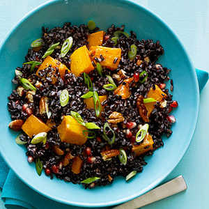 Black Rice Salad with Butternut Squash and Pomegranate SeedsRecipe