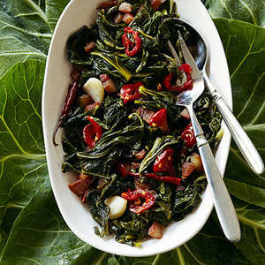 Collard Greens with Guanciale and ChilesRecipe