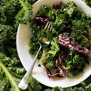 Kale and Radicchio Salad with Broken Caesar DressingRecipe